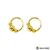 JoveGold漾金飾 派對女孩黃金耳環