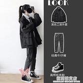 外套女潮ins秋季韓版寬鬆學生百搭秋裝新款棒球服夾克工裝風 雙十二全館免運