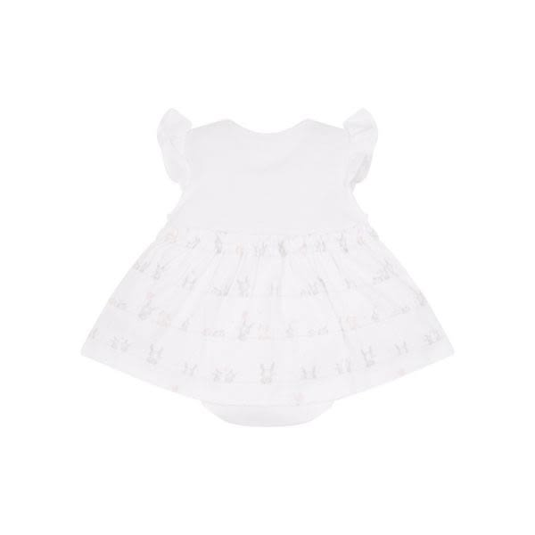 mothercare 粉白探頭兔包臀洋裝-快樂出遊(M0PE174)03M~24M