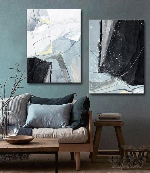 單幅 現代抽象壁畫客廳裝飾畫北歐背景墻畫餐廳臥室掛畫【毒家貨源】