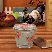 鐵皮可愛迷你小號桌面垃圾桶家用辦公桌上收納桶 『魔法鞋櫃』