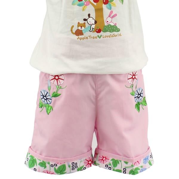 【愛的世界】純棉鬆緊帶五分褲-粉/4歲/8歲-台灣製- ★春夏下著