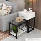 邊幾角幾現代簡約小茶几迷你臥室鋼化玻璃桌子客廳置物架沙發邊櫃  中秋特惠 YTL