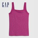 Gap女裝 簡約風格純色方領吊帶背心 577514-漿果紅