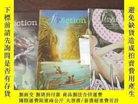 二手書博民逛書店f(r)iction:罕見THE TABOO ISSUE (WINTER2018)+THE ISLAND ISSU
