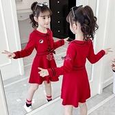 女童春洋裝新款兒童裙中大童學院風棉裙小女孩洋氣公主裙 快速出貨