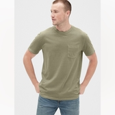 Gap男裝復古水洗圓領短袖T恤440773-沙拉黃綠