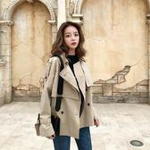 西裝外套 春裝chic小個子卡其色風衣女短款學生韓版百搭流行短外套 唯伊時尚
