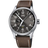 ORIS 豪利時Big Crown ProPilot GMT 小秒針飛行錶灰45mm 0174877104063 0752205FC