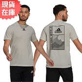 【現貨】Adidas SPORTPHORIA AEROREADY 男裝 短袖 吸濕排汗 圖騰 灰綠【運動世界】GL2363