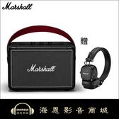 【海恩數位】英國 Marshall Kilburn II 攜帶式藍牙喇叭 經典黑 贈送 Major III 藍牙耳機(市價5990元)