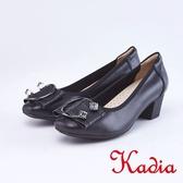 kadia.柔軟舒適 造成金屬飾釦包鞋(9007-90黑色)