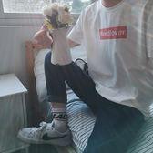 T恤 ins圓領短袖t恤男運動半袖青少年學生體恤中袖韓版潮流男上衣 〖夢露時尚女裝〗