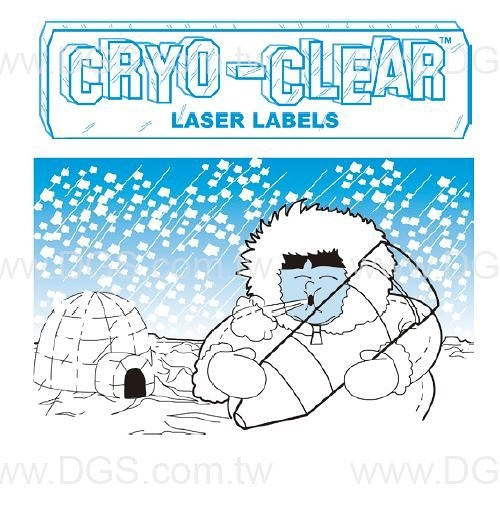 《Diversified》透明標籤 Cryo-Clear Laser Labels