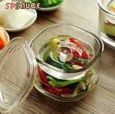 密封罐 廚房泡菜壇子加厚玻璃密封罐家用腌菜缸瓶淺漬罐一夜漬日本腌制罐