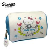 【正版授權】凱蒂貓 北歐風 化妝包 收納包 小物收納 Hello Kitty 三麗鷗 Sanrio - 005152