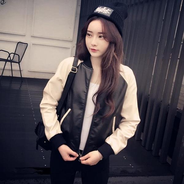 風衣 韓版時尚短外套女春秋天外搭夾克衫棒球服學生百搭皮衣開衫外衣服