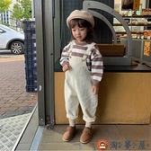 童女寶寶牛仔背帶褲春秋洋氣男童嬰兒兒童褲子【淘夢屋】
