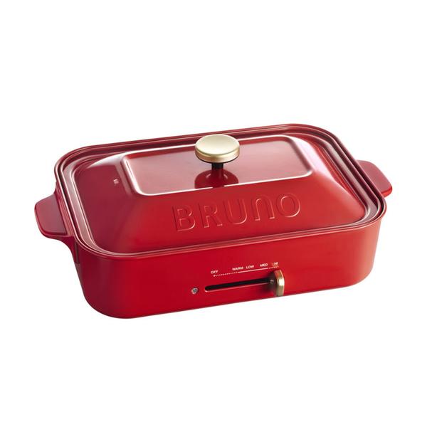 【BRUNO】多功能電烤盤BOE021(聖誕紅)
