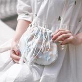 帆布包 女森繫小包帆布斜背包中國風仙女荷包漢服古風 - 雙十二交換禮物