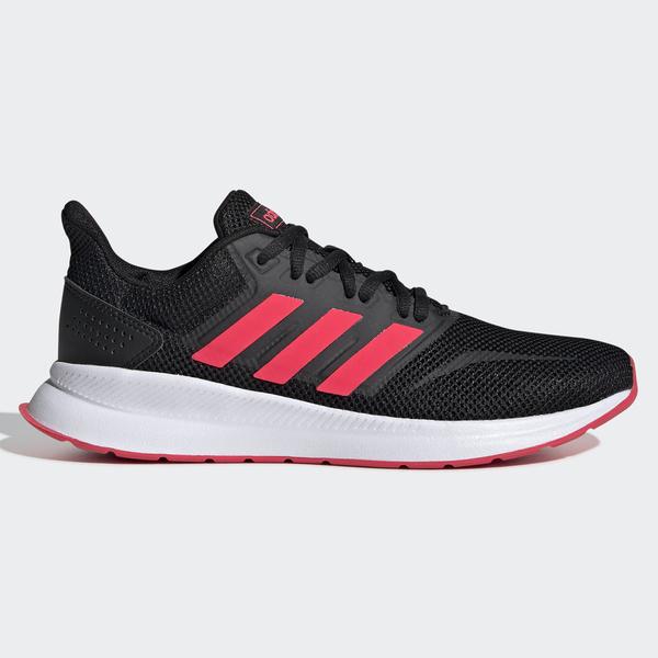 Adidas RUNFALCON 女鞋 慢跑 訓練 輕量 透氣 黑 紅 【運動世界】F36270