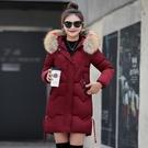 女士外套棉襖 韓版外套羽絨外套 加厚冬季上衣潮流 中長款夾克外套加絨 修身棉服女生外套