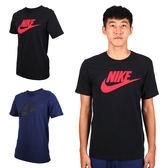 NIKE 男針織圓領短袖T恤 (慢跑 運動 短T 免運 ≡排汗專家≡