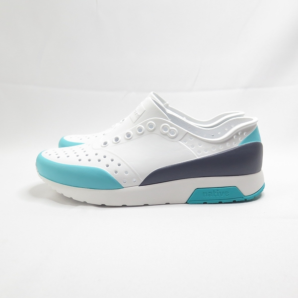 Native LENNOX BLOCK 洞洞鞋 防水 111050028992 男女款 白x藍x黑【iSport愛運動】
