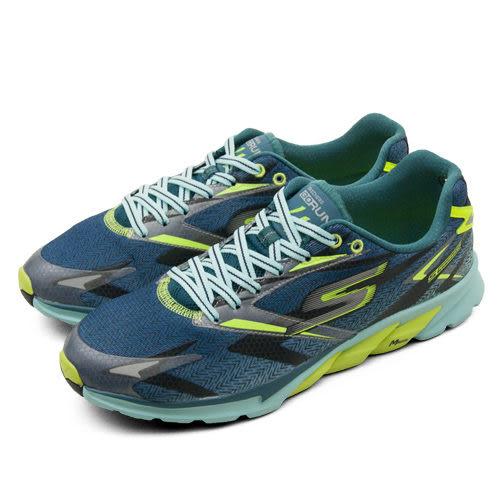 SKECHERS 專業輕量慢跑鞋 Gorun 4 藍黑綠 53995NVLM 男
