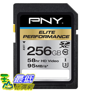 [美國直購] PNY 記憶卡 Elite Performance 256 GB High Speed SDXC Class 10 UHS-I (P-SDX256U395-GE)