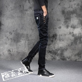 牛仔褲休閒褲 黑色彈力夏季牛仔褲男小腳修身百搭正韓夏季薄款青少年 鉅惠85折