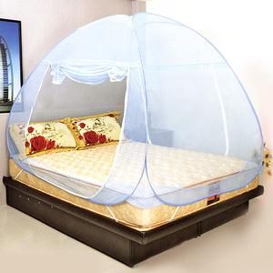 【LASSLEY】彈開式蒙古包蚊帳-單人床雙門(蚊帳 防蚊 安眠好眠)米色