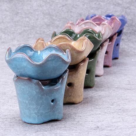 梅蘭竹菊冰裂釉茶葉過濾陶瓷洗茶器Eb14897『小美日記』