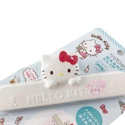 小花花日本精品HelloKitty大臉造型白色磁鐵吸鐵菜單夾冰箱夾便條夾萬用夾食物密封夾56892703