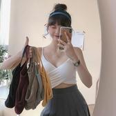 交叉小吊帶背心女夏外穿潮2020新款韓版網紅美背性感打底短款上衣 貝芙莉