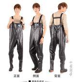 姜太公下水褲半身連體防水衣皮叉捕魚釣魚褲服耐磨牛筋修身加厚款