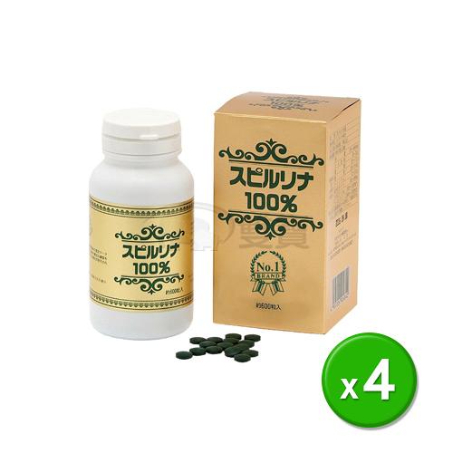 營養品 會昌-螺旋藻錠600錠/4瓶(日本原裝進口)