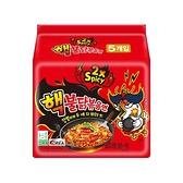 韓國 火辣雞肉風味鐵板炒麵140g x 5包(整袋裝)【小三美日】2倍辣特別版