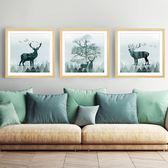 掛畫 北歐壁畫三聯客廳裝飾畫現代簡約掛畫沙發背景墻餐廳臥室創意墻畫 歐萊爾藝術館