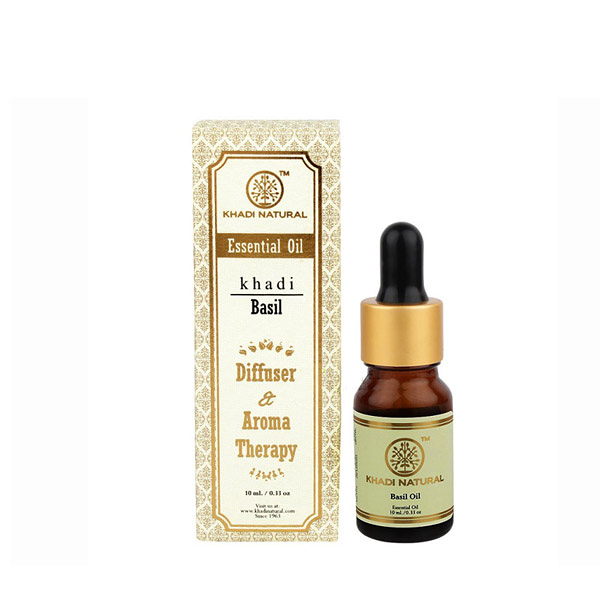 印度 Khadi 羅勒精油 10ml 新包裝 Herbal Basil Essential Oil【PQ 美妝】