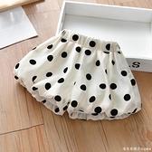 女童褲子夏裝2021新款韓版女寶寶波點短褲洋氣百搭兒童休閒褲外穿 美眉新品