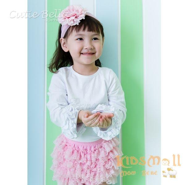 Cutie Bella彈性雪紡牡丹花髮帶-Baby Pink