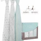 美國Aden+Anais 竹纖維毯子包巾(三入裝) 飄綠春意款9218