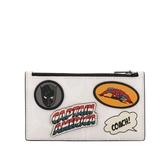 【COACH】Marvel x Coach 聯名PVC皮革卡片/零錢包(白色) 1855 QBCAH