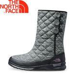 【The North Face 美國 女款 ThermoBall保暖雪靴《灰/黑》】2T5K/防滑/休閒/中筒靴★滿額送