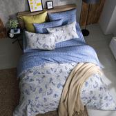 100%純棉 / 雙人 / 兩用被床包組-【靛藍雨林】