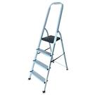 金德恩 台灣製造 大型輕量款全鋁合金四階扶手平台梯/樓梯/階梯/關節梯/馬椅梯/拉梯/單梯