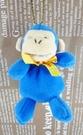 【震撼精品百貨】日本日式精品_猴子~絨毛鎖圈-藍