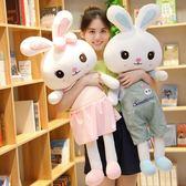 抱枕可愛兔子毛絨玩具公仔兒童玩偶女孩生日禮物抱枕小白兔公主布娃娃 貝芙莉LX