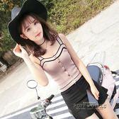 針織吊帶小背心女內搭外穿打底chic韓版短款性感高腰無袖上衣夏季